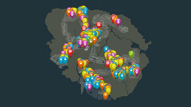 tomb raider interactive map